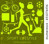 concept of sport lifestyle ... | Shutterstock .eps vector #651076456