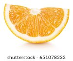 ripe wedge of orange citrus... | Shutterstock . vector #651078232
