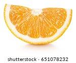 ripe wedge of orange citrus... | Shutterstock . vector #651078232