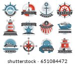 nautical templates set marine... | Shutterstock .eps vector #651084472