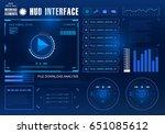 futuristic virtual graphic... | Shutterstock .eps vector #651085612