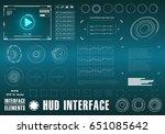 futuristic virtual graphic... | Shutterstock .eps vector #651085642