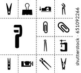 clamp icon. set of 13 filled... | Shutterstock .eps vector #651092266