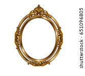 decorative frame of a round... | Shutterstock . vector #651096805