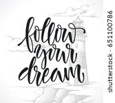 calligraphic inscription ... | Shutterstock .eps vector #651100786