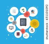 flat paper  book  deadline and... | Shutterstock .eps vector #651101092