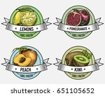vintage set of labels  emblems