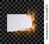 paper sheet on fire. flaming...