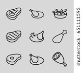 roast icons set. set of 9 roast ...   Shutterstock .eps vector #651111592