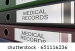 office binders with medical...   Shutterstock . vector #651116236