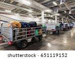 baggage sorting department at... | Shutterstock . vector #651119152