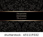 floral invitation card or... | Shutterstock .eps vector #651119332