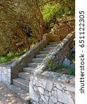 Landscape Design Of Stairs In...