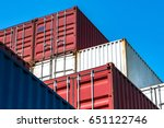 industrial containers box from... | Shutterstock . vector #651122746