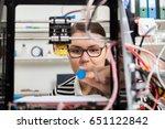 designer working with 3d printer | Shutterstock . vector #651122842