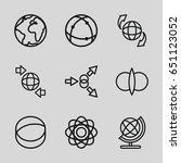orbit icons set. set of 9 orbit ... | Shutterstock .eps vector #651123052