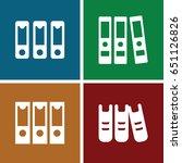 bureaucracy icons set. set of 4 ... | Shutterstock .eps vector #651126826