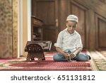 ramadan kareem beautiful boy... | Shutterstock . vector #651131812
