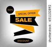 orange sale banner in flat... | Shutterstock .eps vector #651132892