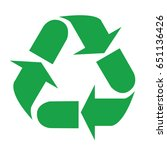 recycle symbol  recycle sign... | Shutterstock .eps vector #651136426