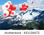 Canada Day Maple Leaf Balloons...