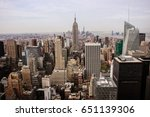 us new york empire state high... | Shutterstock . vector #651139306