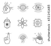 artificial intelligence icons... | Shutterstock .eps vector #651141685