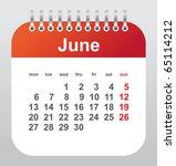 calendar 2011  june   Shutterstock .eps vector #65114212