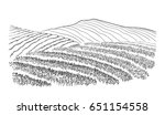 tea plantation landscape in... | Shutterstock .eps vector #651154558