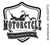 motorcycle logo template | Shutterstock .eps vector #651162472