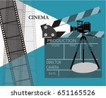 cinema poster or flyer template ...   Shutterstock .eps vector #651165526