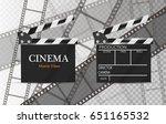 cinema poster or flyer template ... | Shutterstock .eps vector #651165532