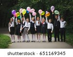 young boys and girls in uniform ... | Shutterstock . vector #651169345