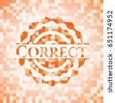 correct orange mosaic emblem | Shutterstock .eps vector #651174952