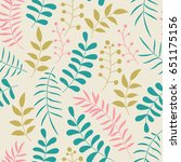 cute colorful floral seamless... | Shutterstock .eps vector #651175156