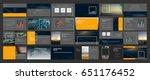 original presentation templates ... | Shutterstock .eps vector #651176452