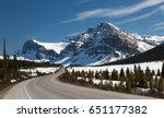 icefields parkway   canada... | Shutterstock . vector #651177382