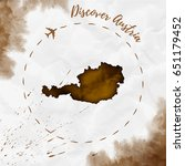 austria watercolor map in sepia ... | Shutterstock .eps vector #651179452