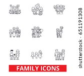 family  happieness  home  fun ... | Shutterstock .eps vector #651191308