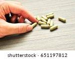 medicine or pill are prepared... | Shutterstock . vector #651197812