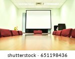 the meeting room is prepared... | Shutterstock . vector #651198436