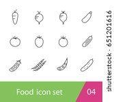 food outline icon set design ... | Shutterstock .eps vector #651201616