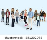 diversity people set gesture... | Shutterstock . vector #651202096