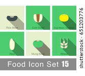 rice bean wheat  seeds icon set ... | Shutterstock .eps vector #651203776