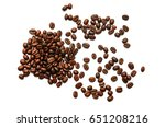 coffee beans. isolated on white ... | Shutterstock . vector #651208216