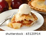 apple pie and ice cream | Shutterstock . vector #65120914