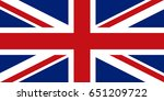 flag design. english flag on... | Shutterstock .eps vector #651209722
