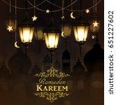 ramadan kareem  greeting... | Shutterstock .eps vector #651227602