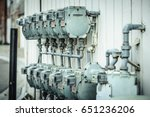 gas meters on wall | Shutterstock . vector #651236206