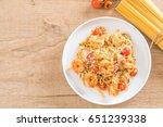 delicious spaghetti with... | Shutterstock . vector #651239338